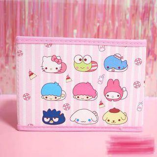 粉色三麗鷗桌上型折疊收納盒