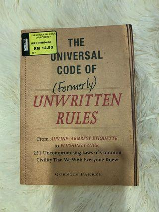 The universal code of unwritten rules