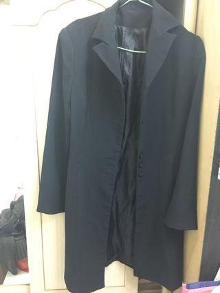 長版西裝外套兼風衣