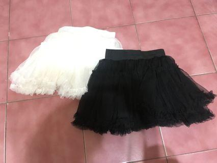 蓬紗裙(黑/白)也可單買