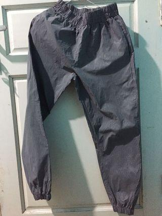 Jogger Pants Glow in the dark Celana joger abu abu-abu grey long pants silver