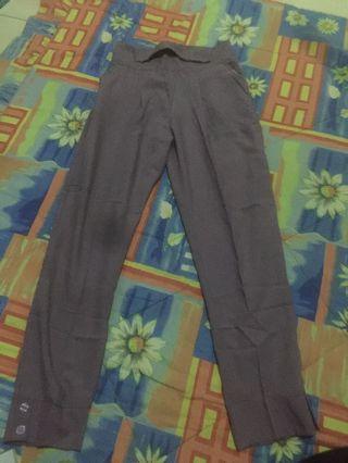 Celana Kerja bahan ungu