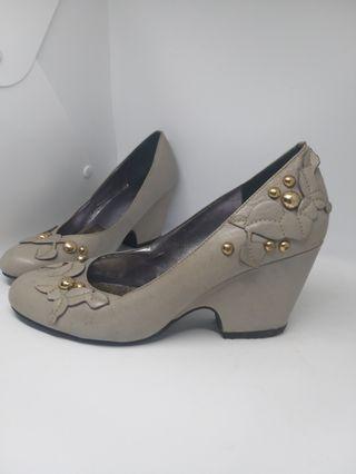 Sepatu wanita pantofel abu2