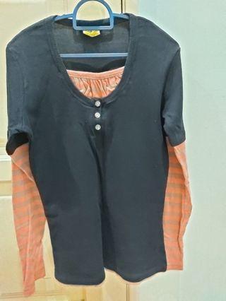 Black long sleeve tops