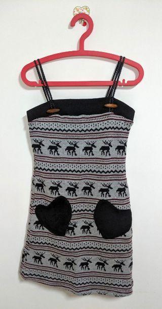 MOSS CLUB 麋鹿 愛心雙口袋 暖呼呼 毛呢 針織洋裝 dress X'MAS 聖誕節 限定款 Rudolph