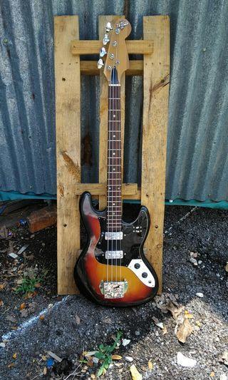 Rare vintage Teisco Trumph bass guitar