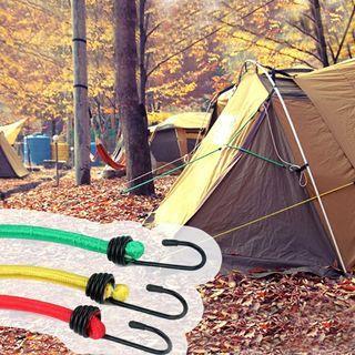 戶外露營8MM加粗120CM長鬆緊帳篷繩彈力繩晾衣繩晾衣绳捆綁行子繩~顏色隨機