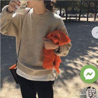 Oatmeal/Beige Knit Sweater