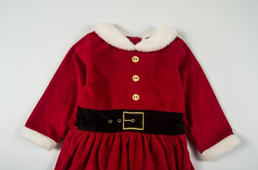 🌟少量優惠🌟(62cm-86cm)聖誕老人造型服裝服飾 出口歐洲 男女童BB嬰兒天鵝絨長袖連身裙/褲 全新 Christmas Santa Claus Dress costume