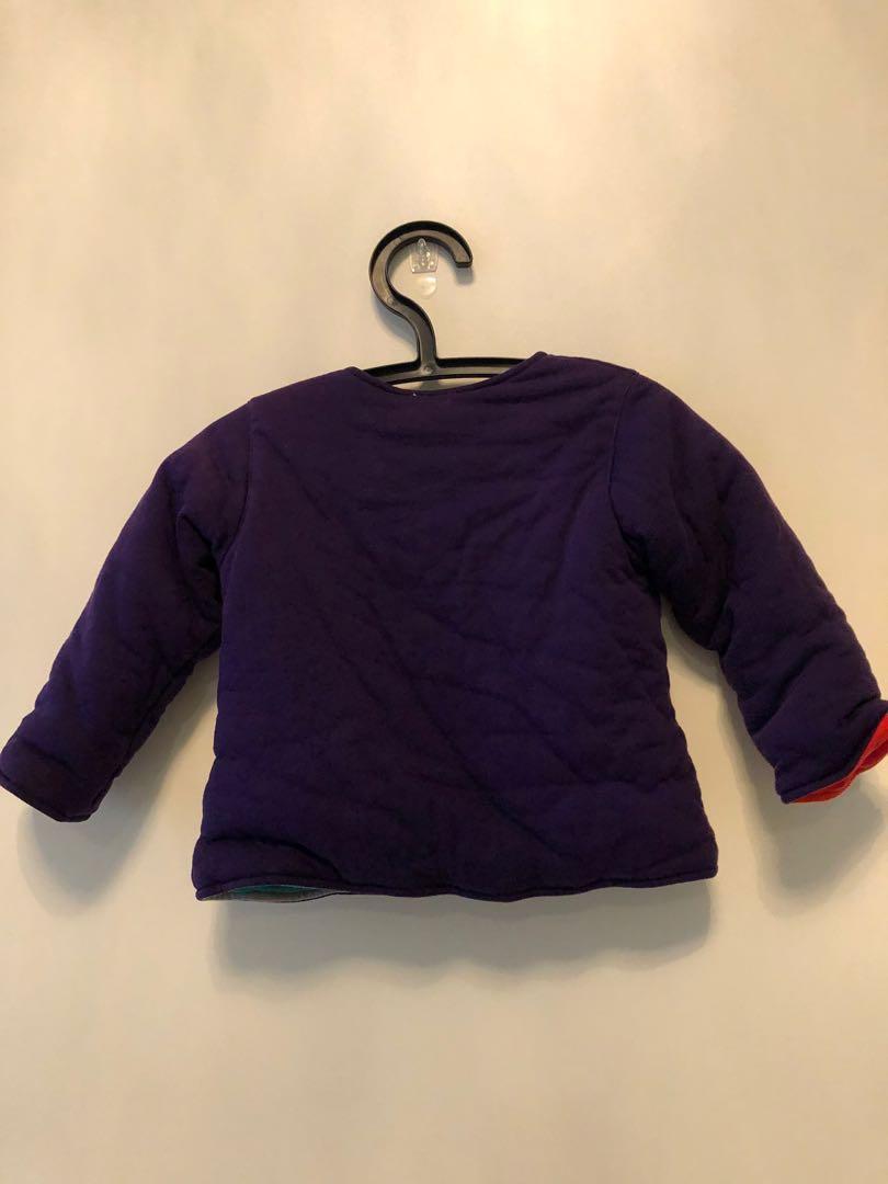 雙面穿鋪棉外套(90-100cm)