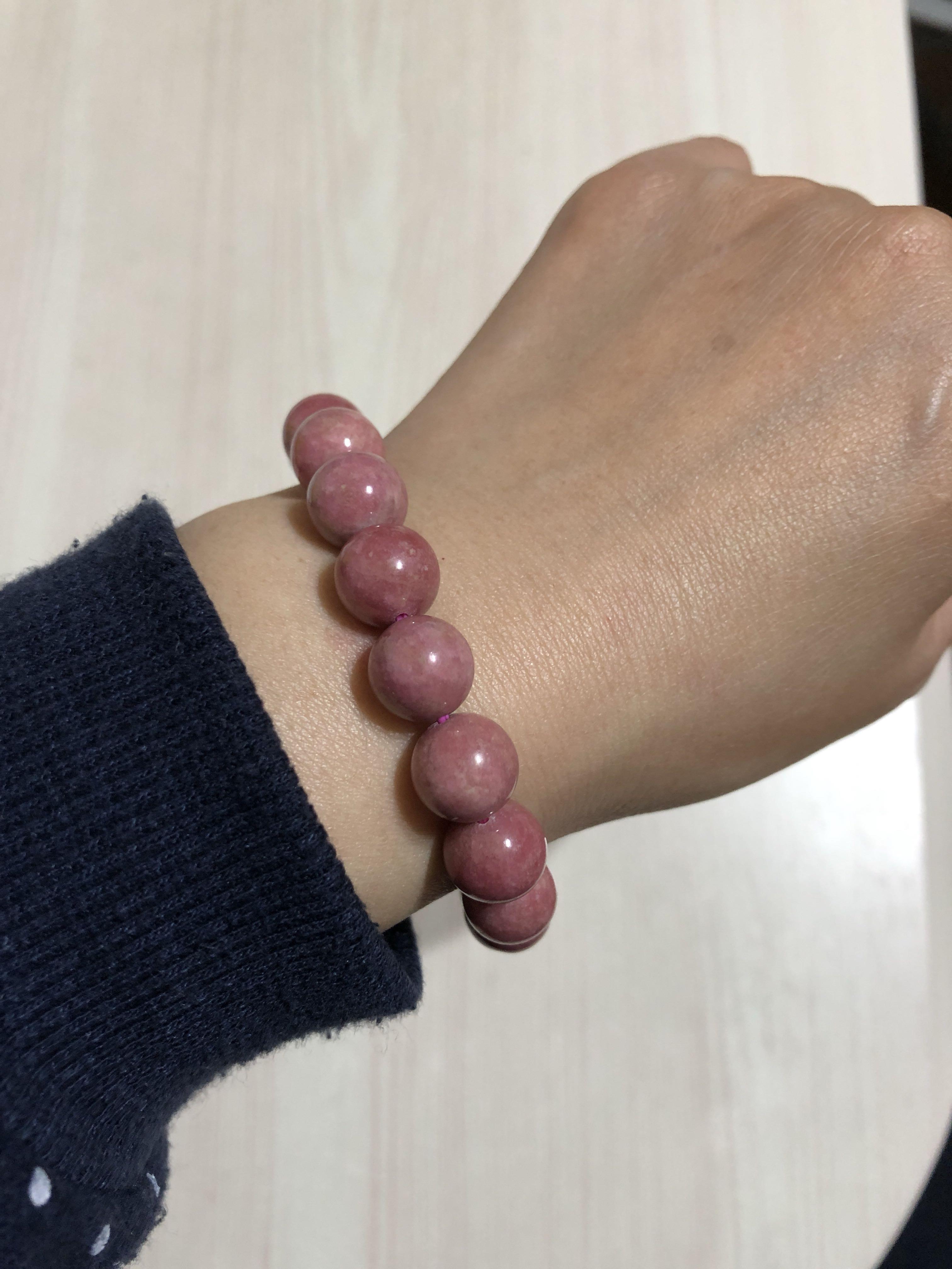 粉紅色-坦桑幼蓮石/手珠手鍊8mm