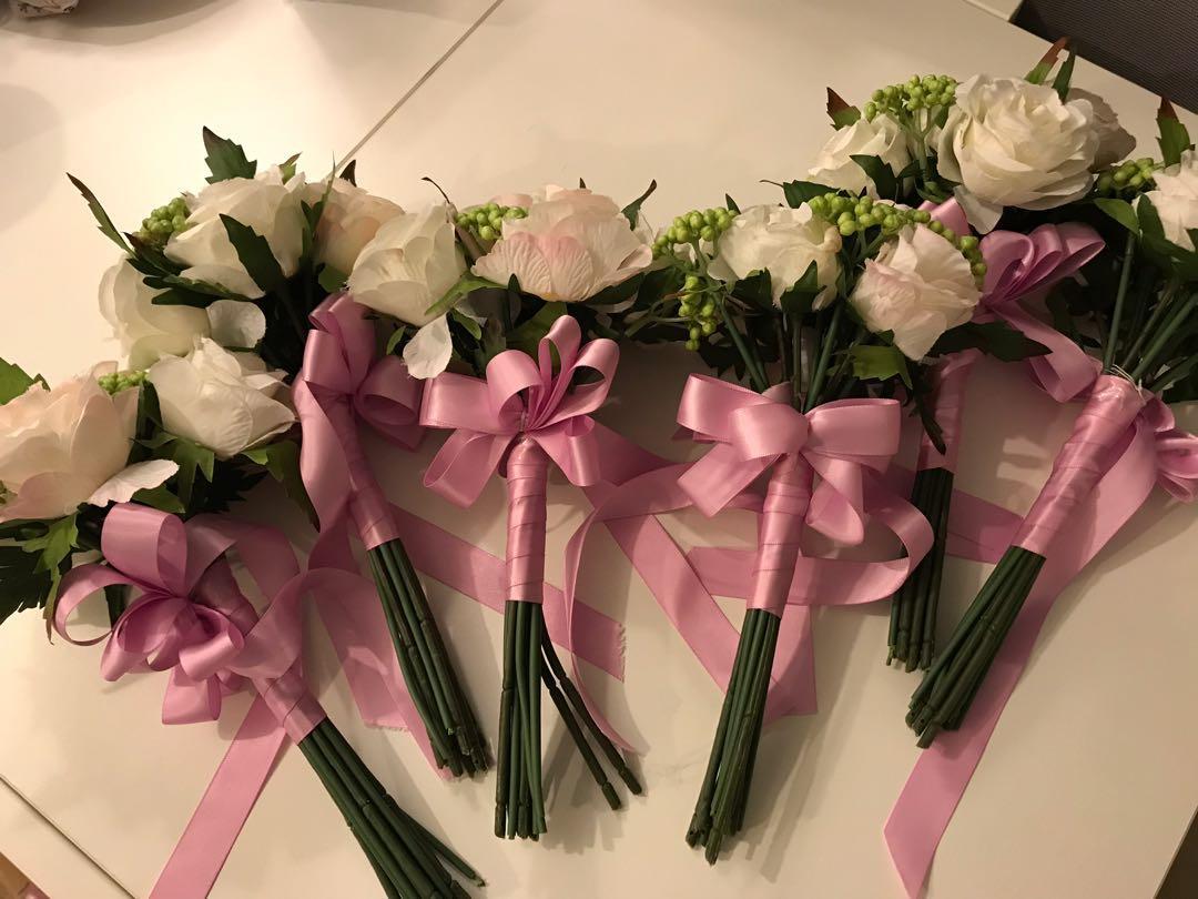 婚後物資 姊妹絲花球