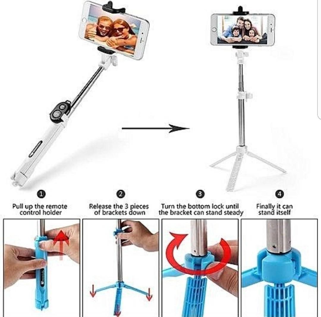 🙄 bluetooth selfie stick with camera stand
