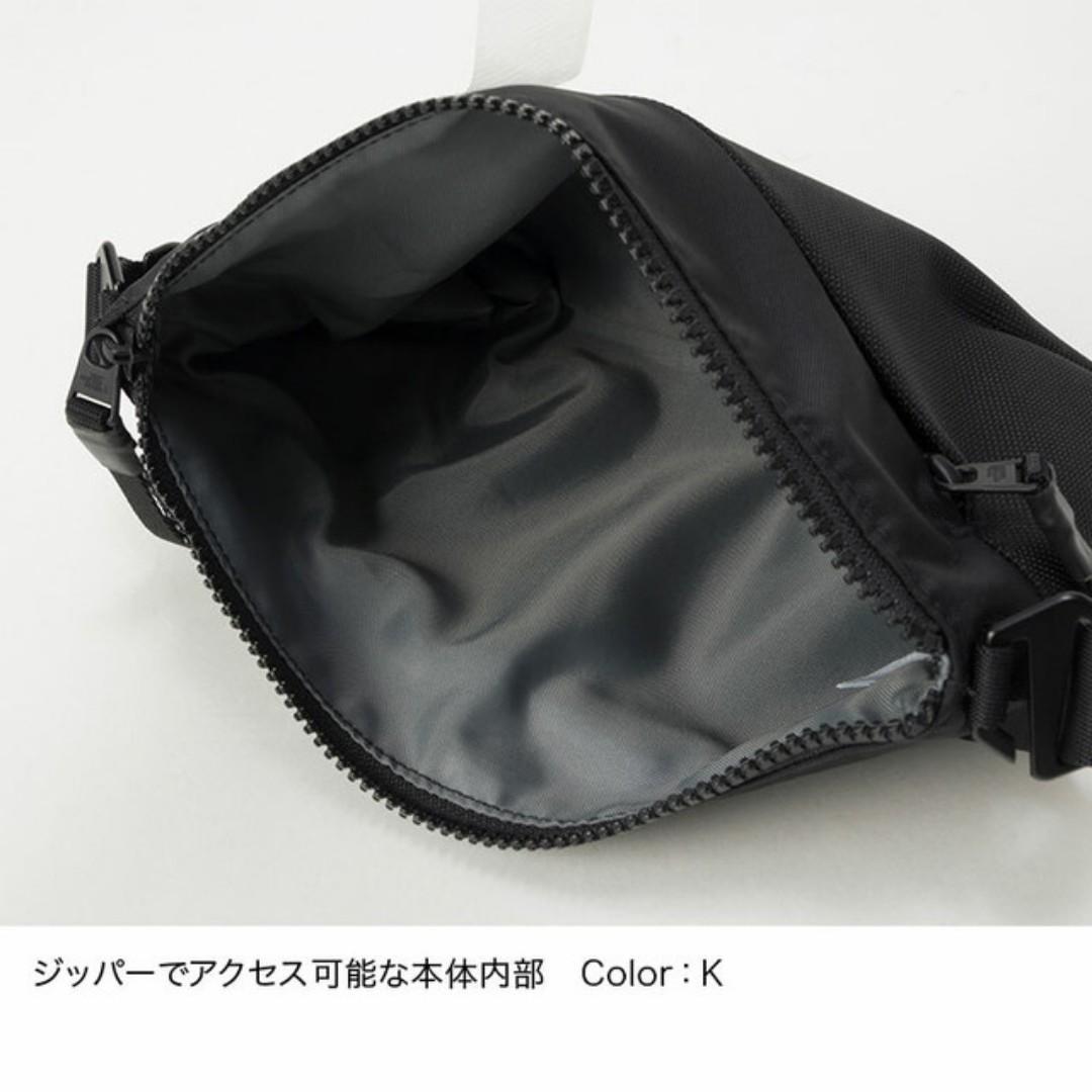 日本 North Face 黑色防潑水牛津布 Electra 輕量 斜咩袋