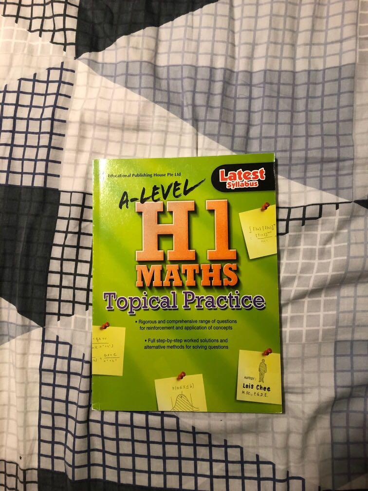 A levels H1 Maths topical practice book
