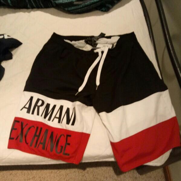 Armani Exchange size large  board shorts/swim shorts