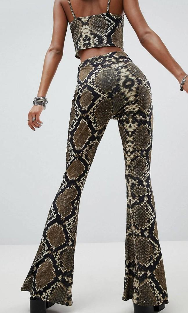 Asos 2 piece snake skin festival outfit