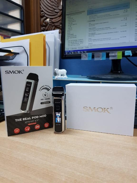 AUTHENTIC POD MOD SMOK RPM 40 98% MULUS BONUS COIL DAN LIQUID