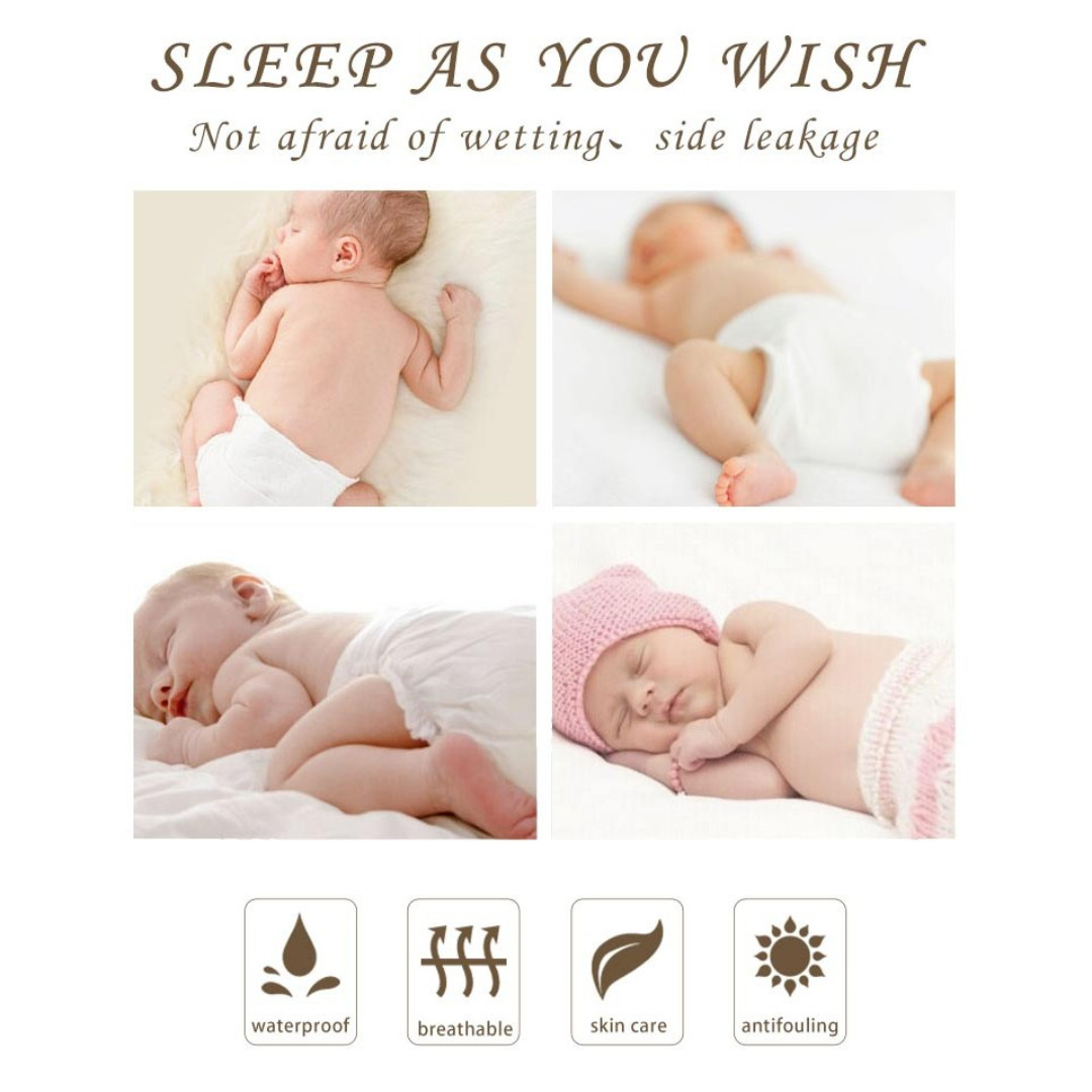 [New] Baby Crib Bed Waterproof Mattress Protector Anti-mite Bed Mattress Cover