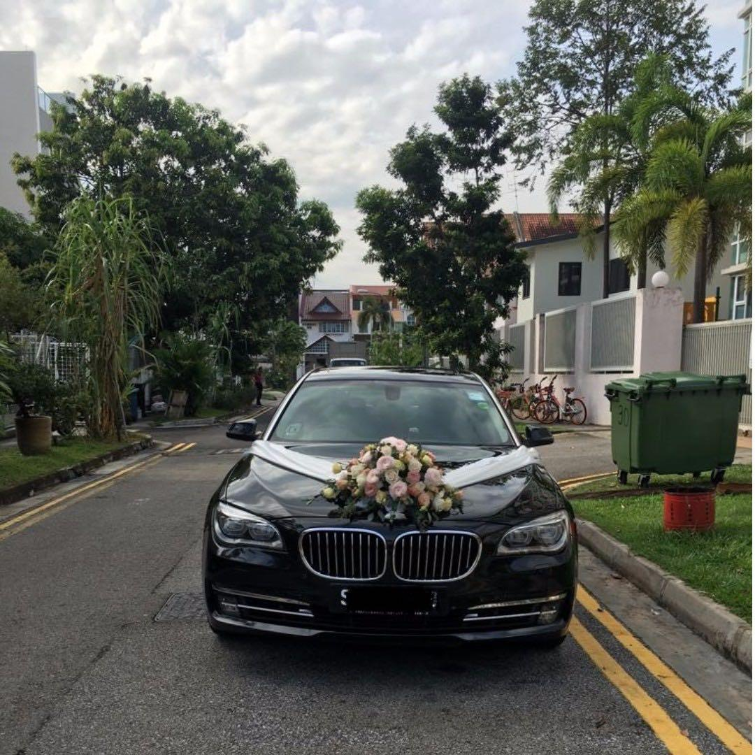 BMW 7 series wedding car rental with driver