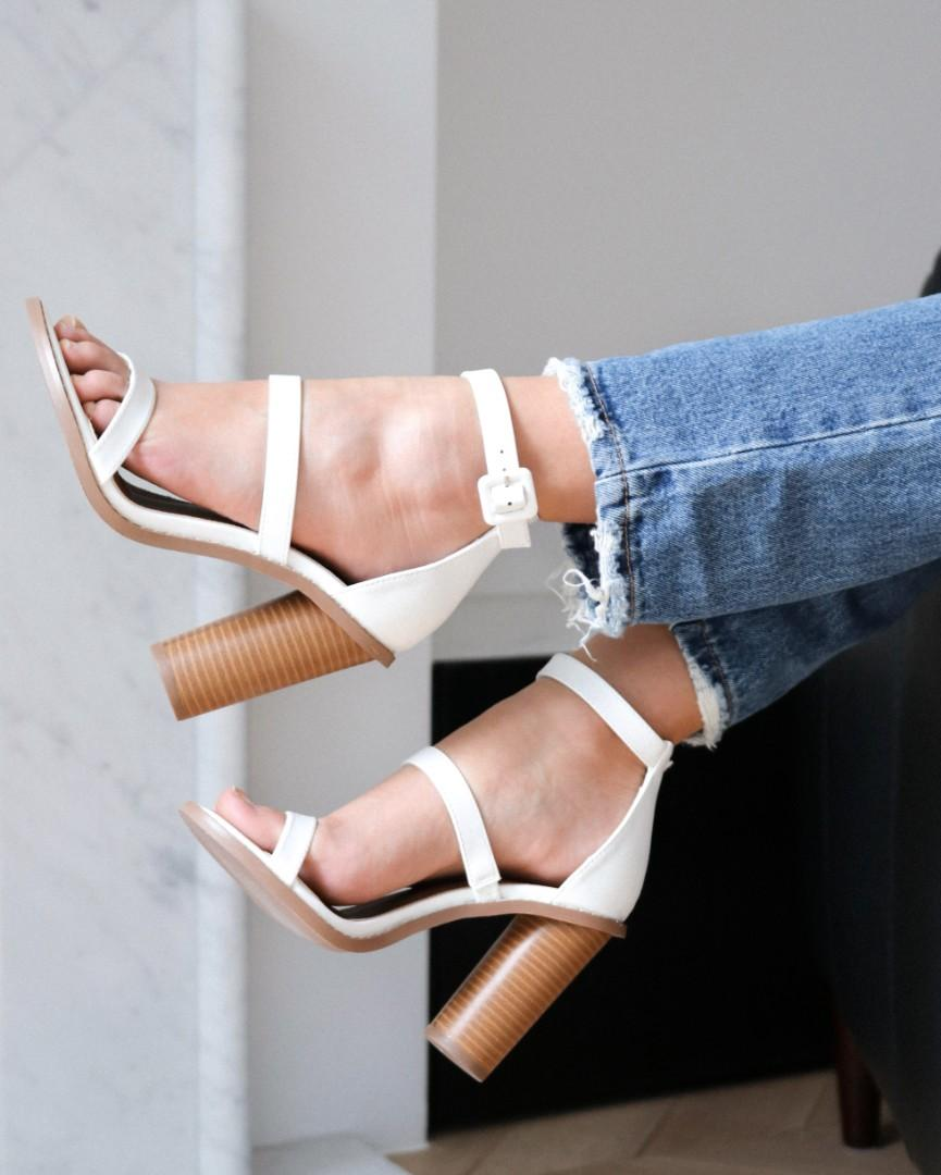 Brand New Rubi Shoes Lily Heel in White, sizes 37&40