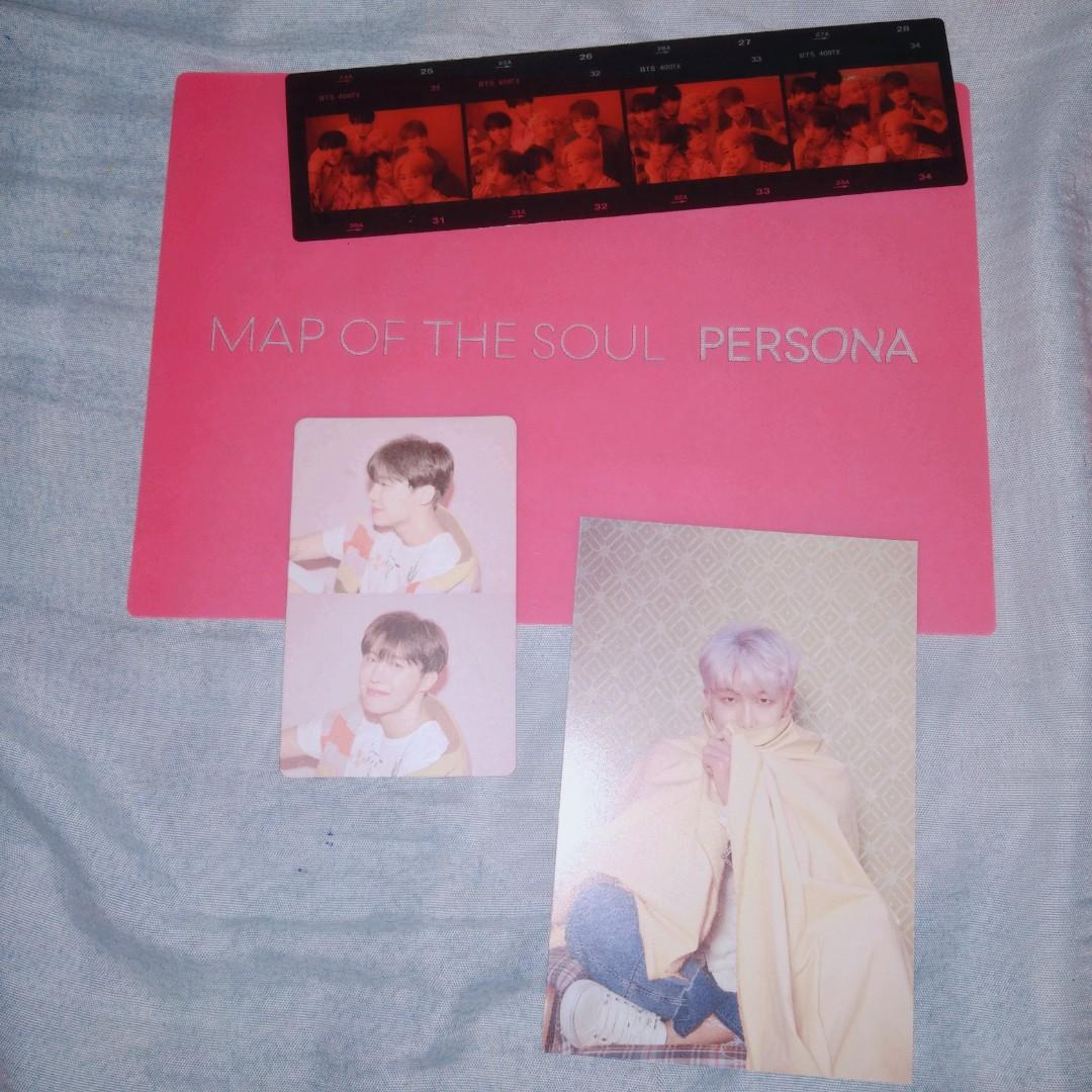 Bts persona Official pc + post card + transparent bookmark