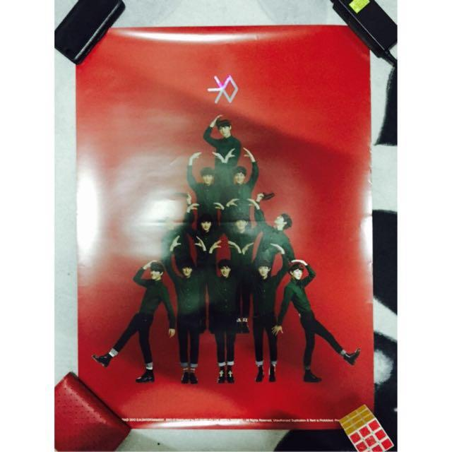 EXO MID miracle in December official poster red version