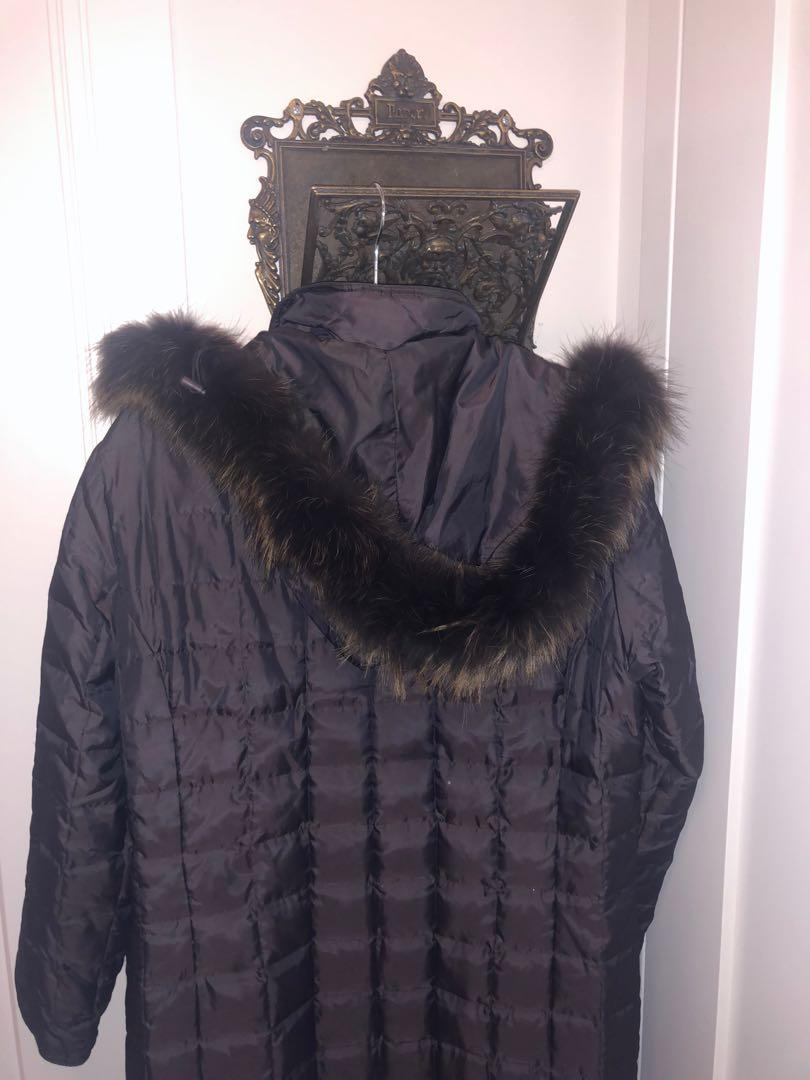 Fur lined down coat size M/L from Holts