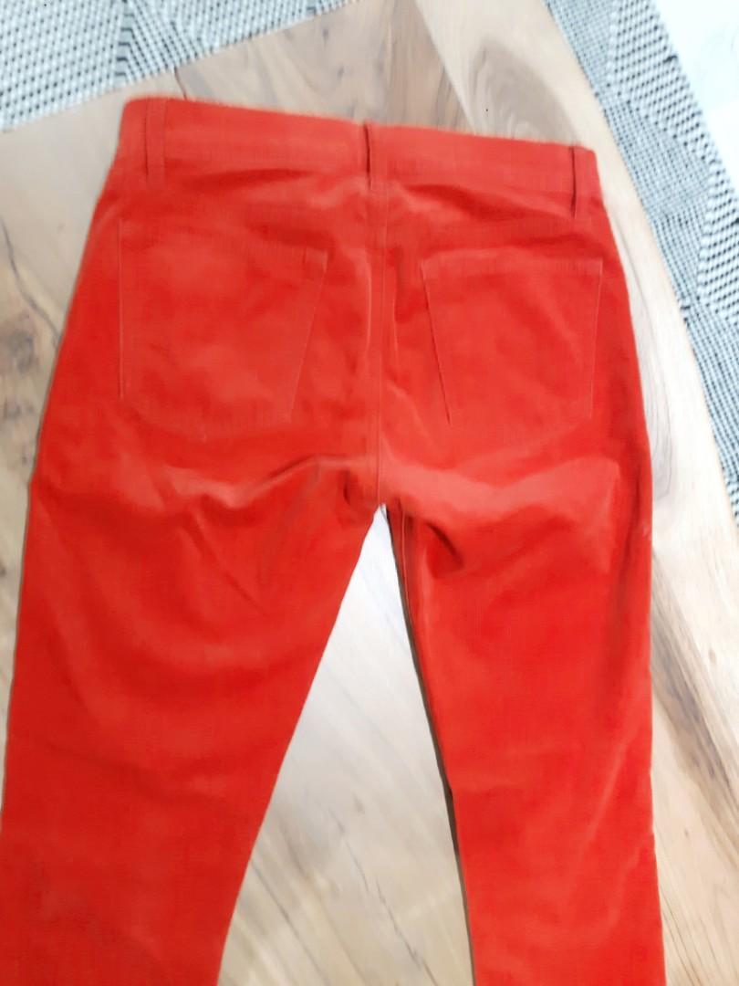 GAP 1969 MID WAIST CORDUROY POPPY RED SLIM JEAN JEGGING PANTS size 25 Regular