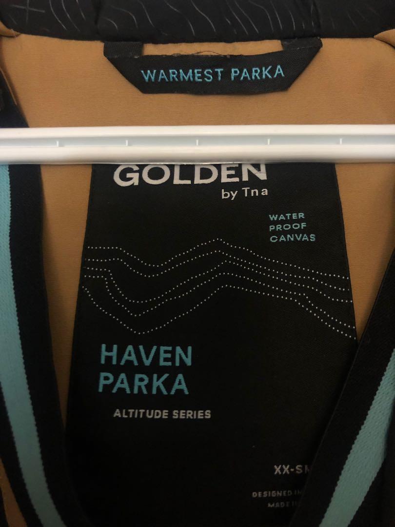 Golden TNA Haven Parka in Golden Tan (SOLD OUT COLOUR)