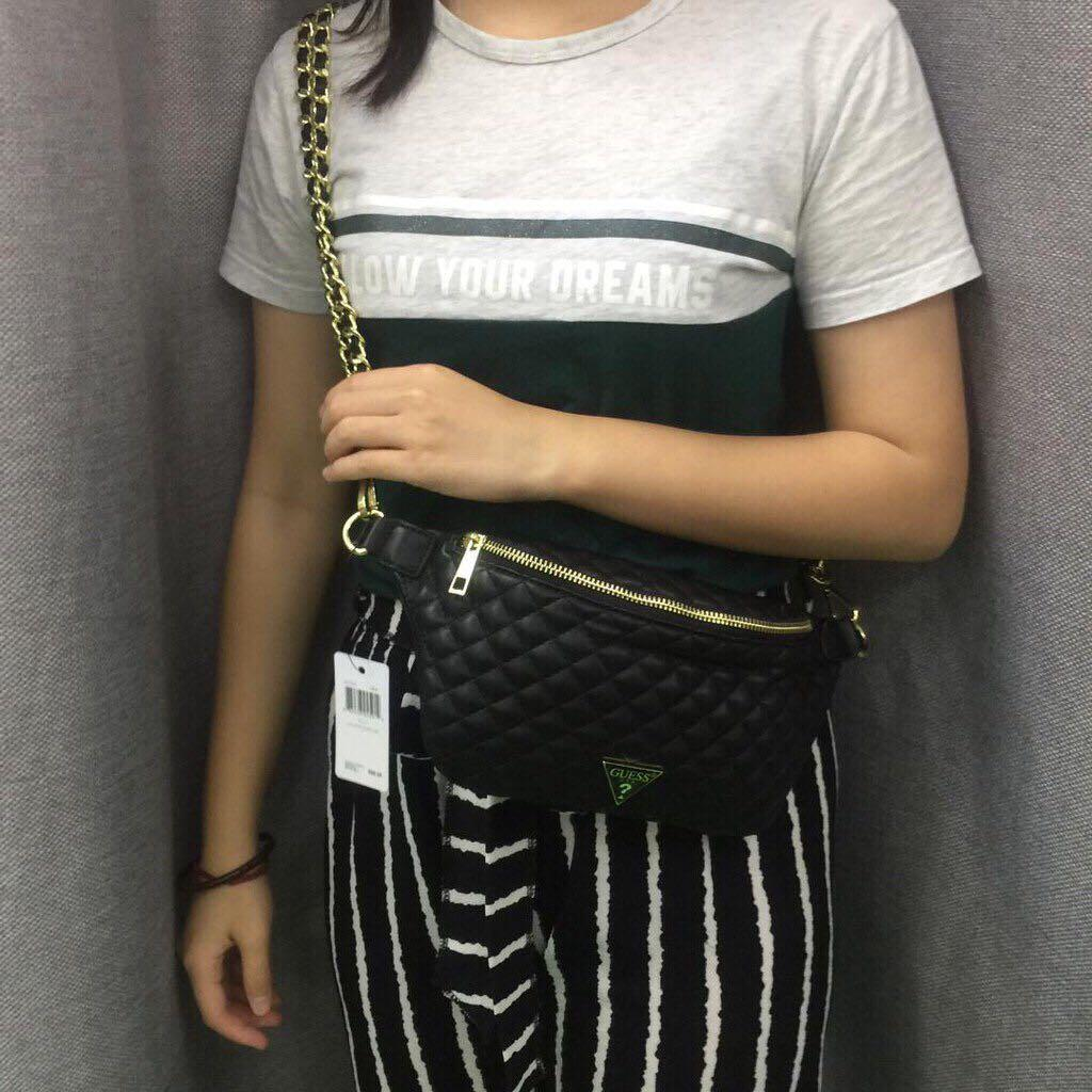 Guess quilted waist / chest & crossbody bag