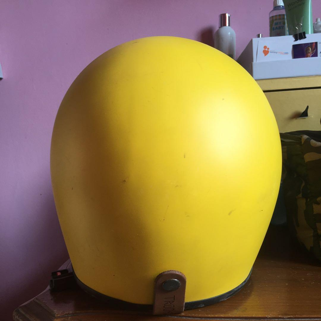 Helm Wolverine Bandit Yellow Trooper Custom