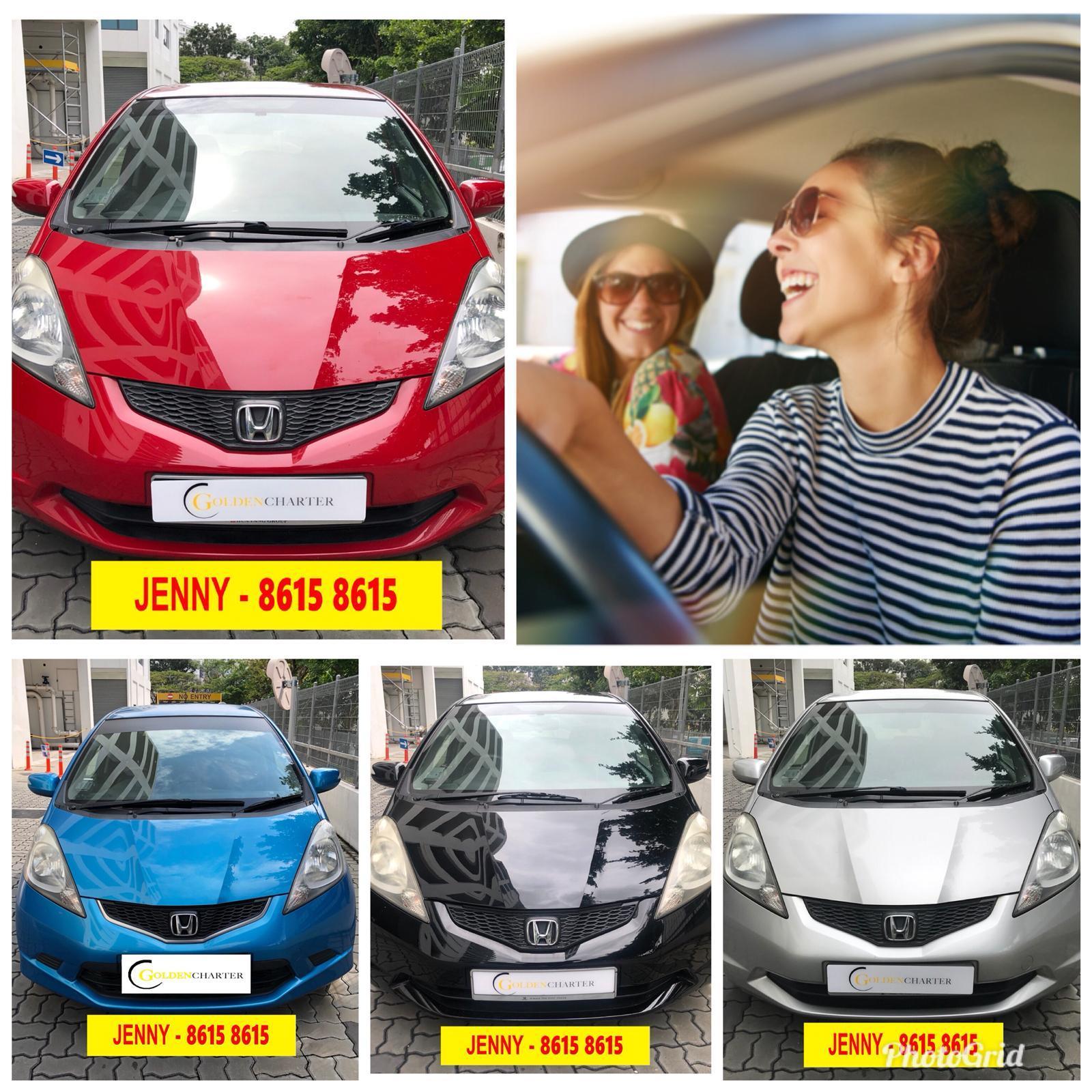 HONDA FIT 1.3a BUDGET CHEAPER CAR RENTAL $46 per day!!!SAVE PETROL~~gojek incentive rebate>>>>grab n personal use!!