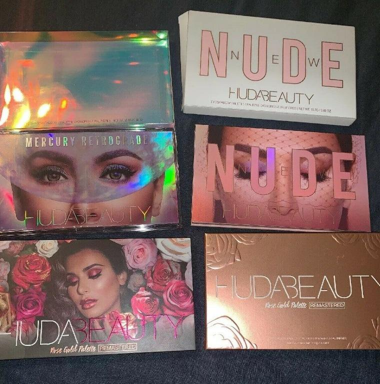HUDA Beauty Eyeshadow Palettes Lot: Retrograde, Rose Gold & Nude. BRAND NEW & AUTHENTIC [PRICE IS FIRM] FREE SHIPPING