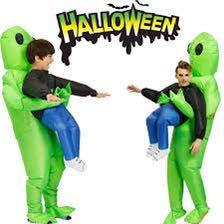 Inflatable Green Alien Costume Funny Halloween Party Dress