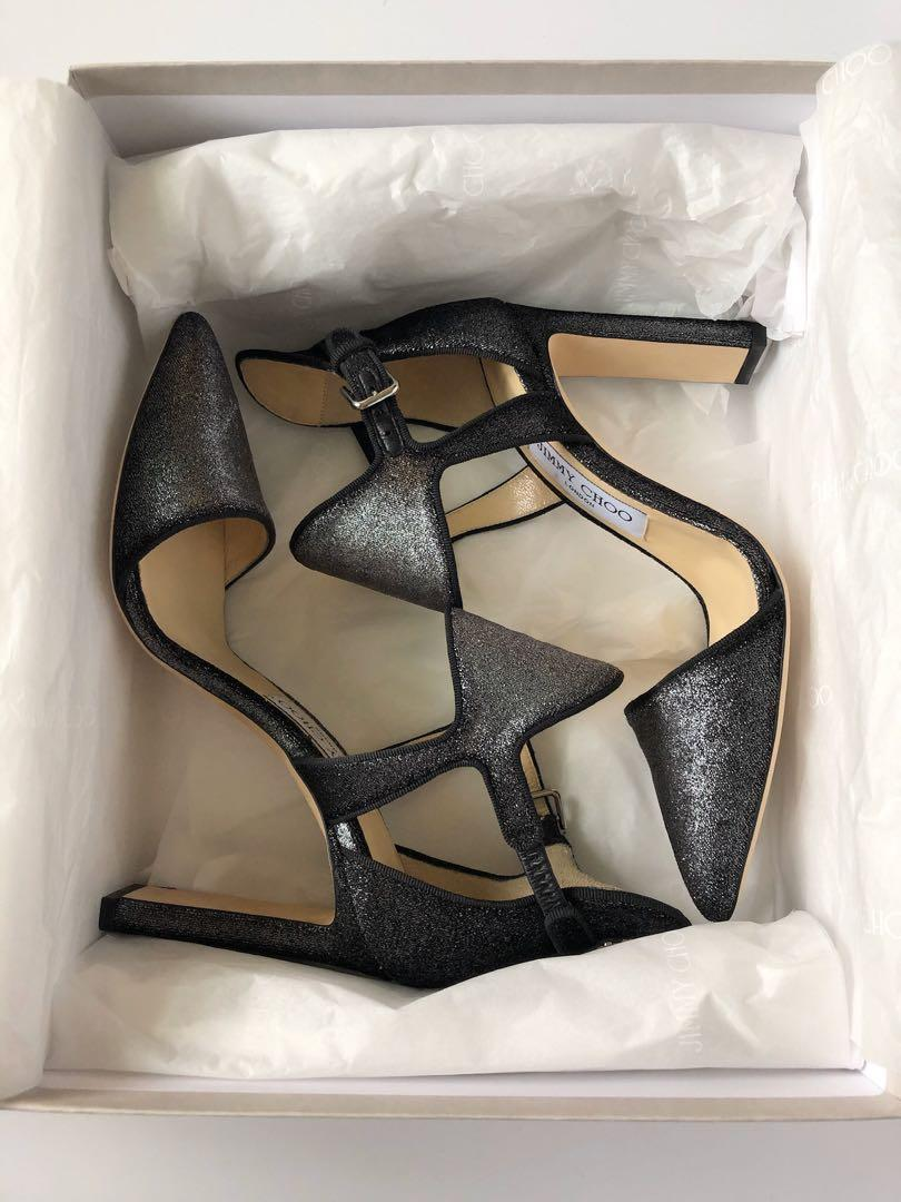 JIMMY CHOO BLACK HEEL SANDAL - BRAND NEW IN BOX! SIZE 36