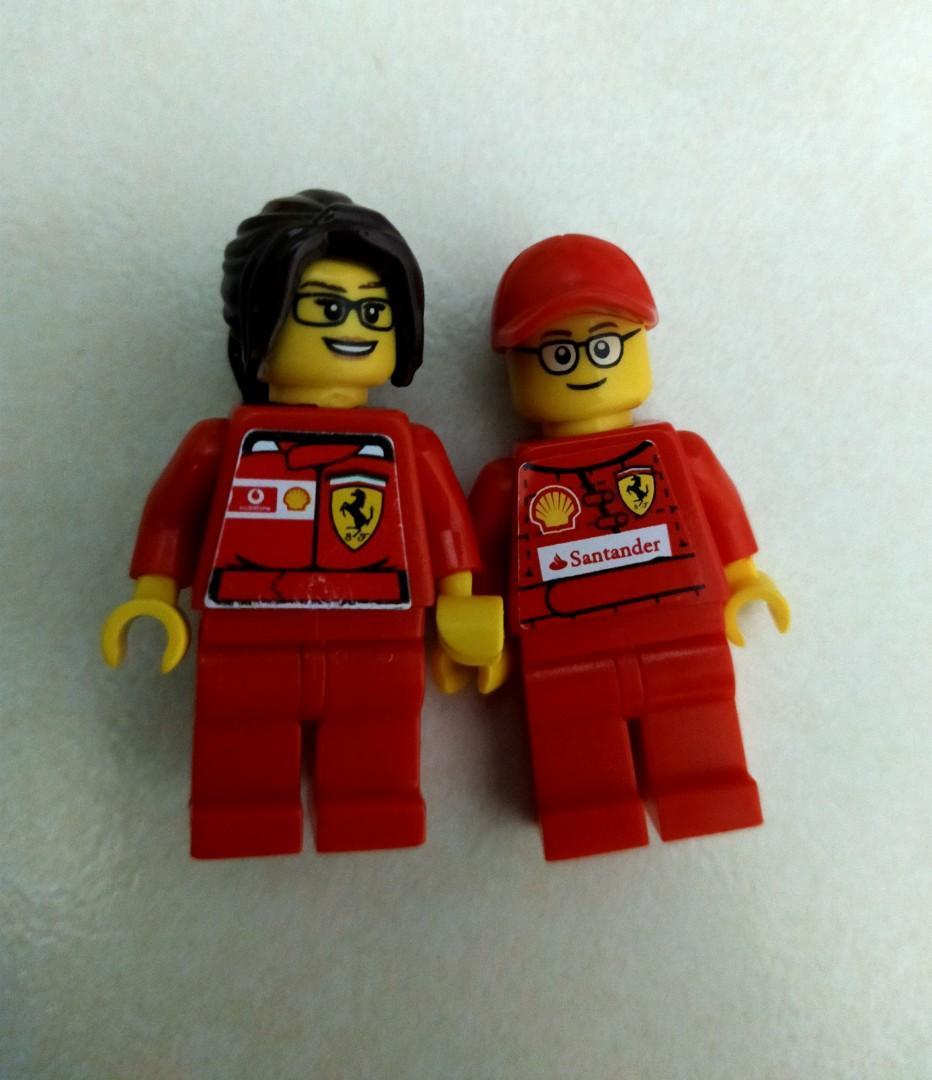 Lego minifigures Ferrari