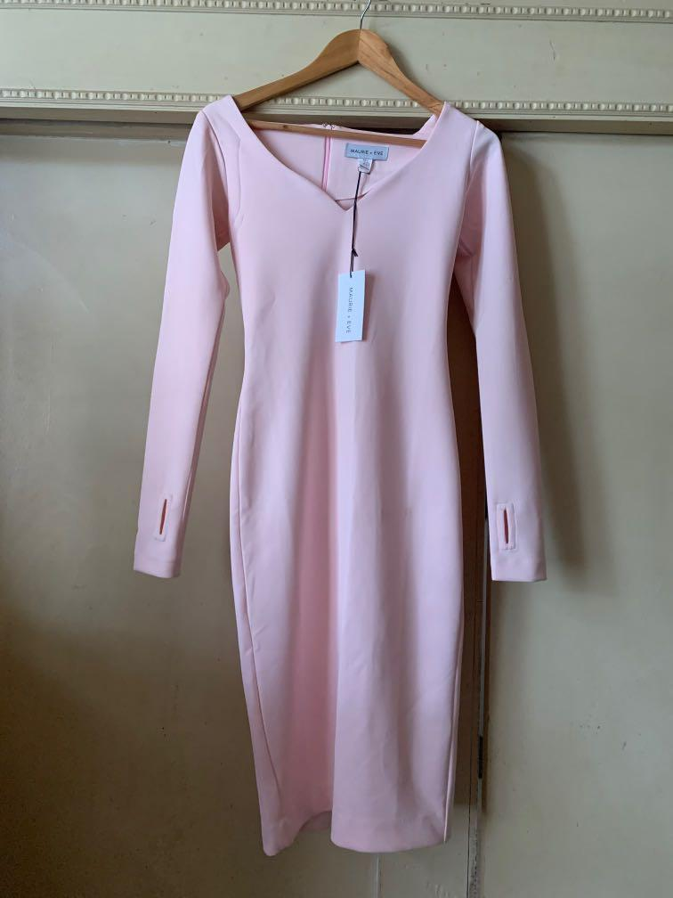 Maurie and eve easy come easy go dress size 6 pink