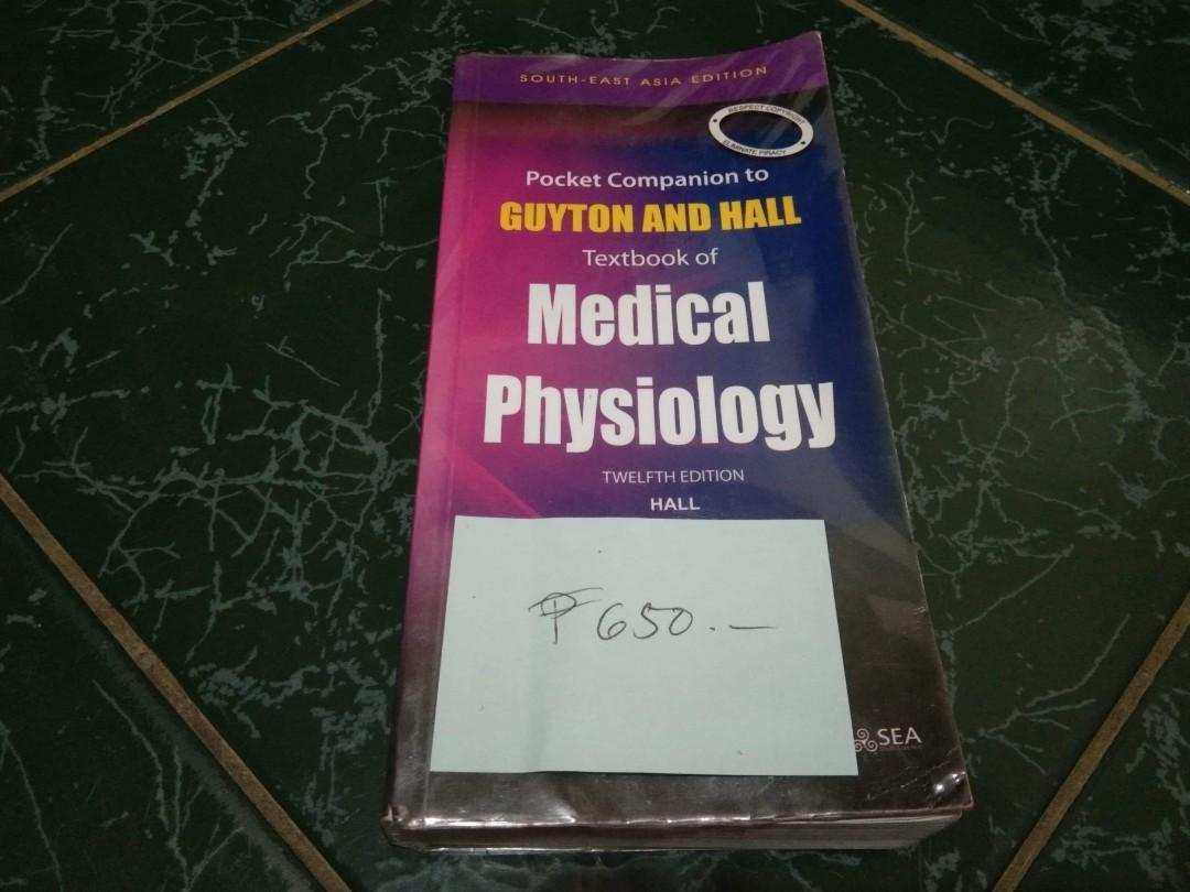 POCKET COMPANION TO GUYTON AND HALL, TEXTBOOK OF MEDICAL PHYSIOLOGY 12th EDITION