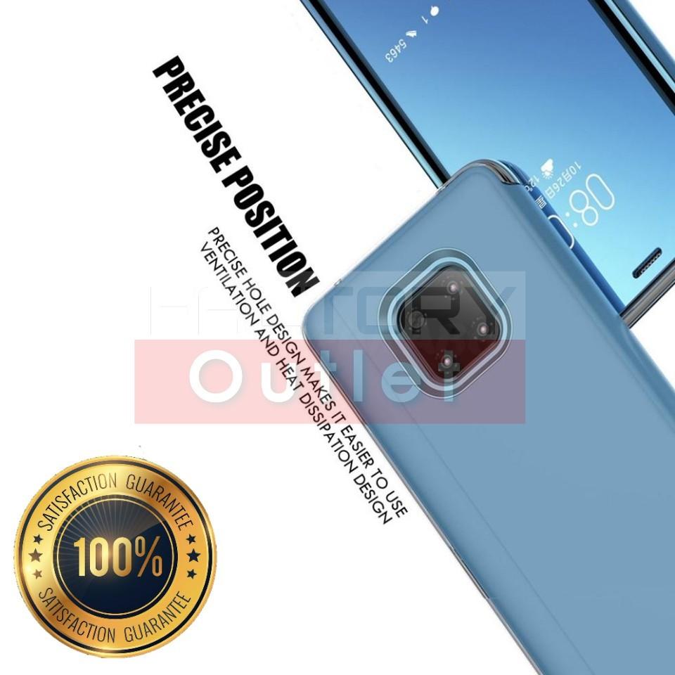 Mirror Finish Protective Transparent Front Smart Flip Case