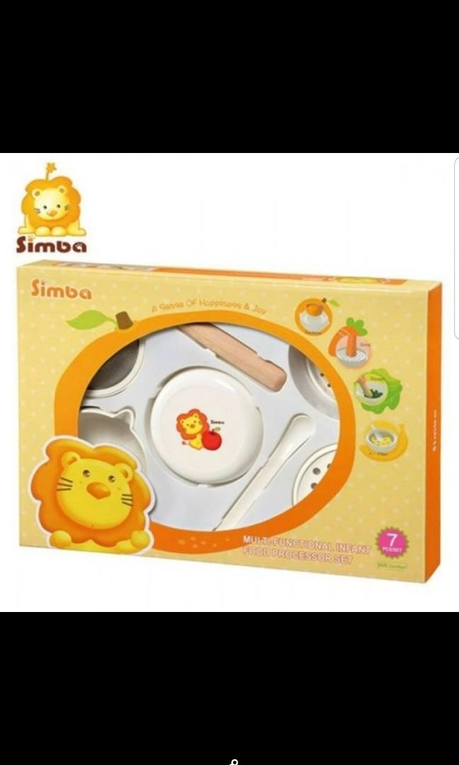 MULTI FUNCTIONAL INFANT FOOD PROCESSOR SET SIMBA (7PCS) /ALAT MAKAN / ALAT MPASI (ex kado)