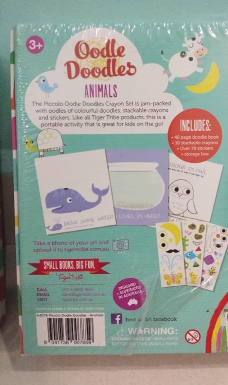 Oodle Doodles - Shape / Animals (Crayon set with stickers)