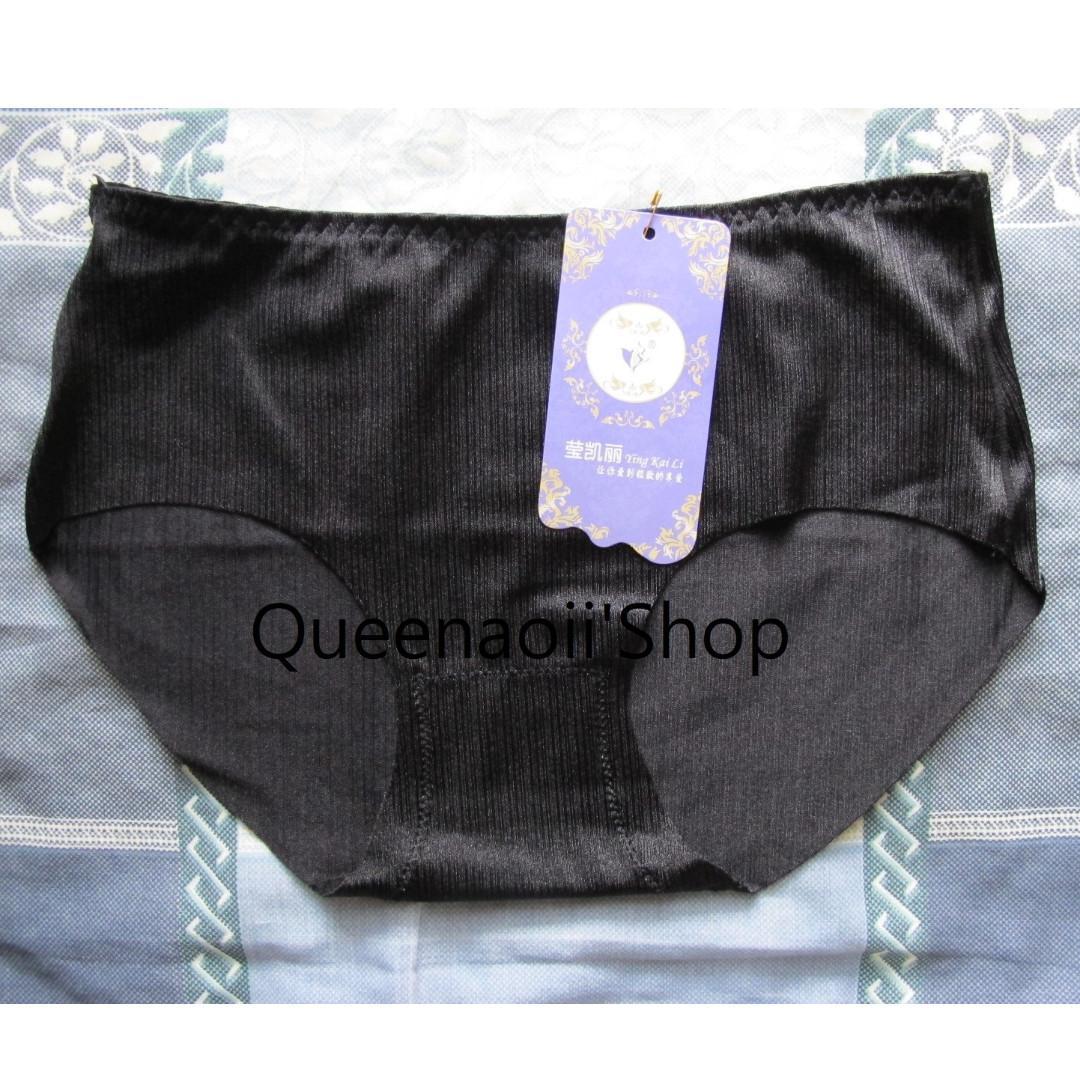 queenaoii 女士 黑色 拉絲 冰絲 內褲 Women underwear