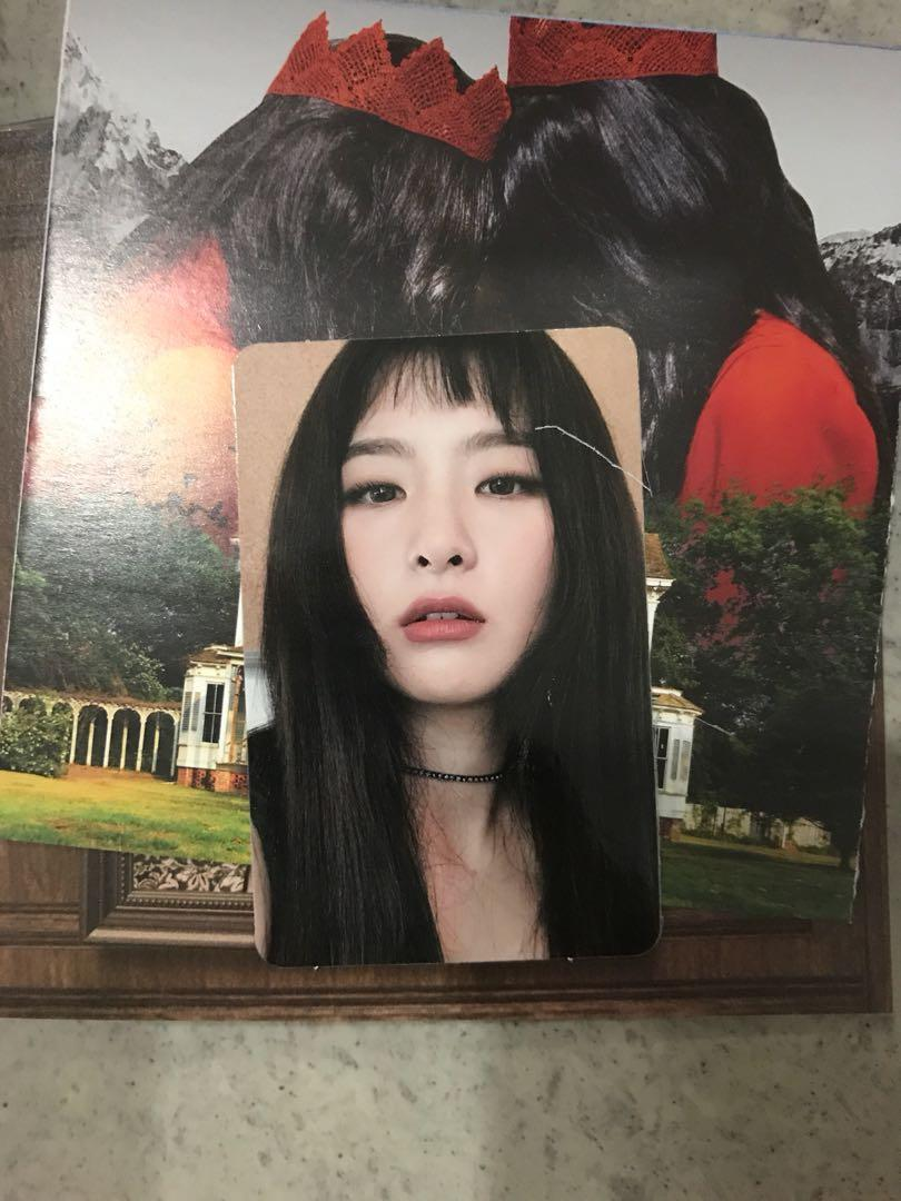 Red velvet Bad Boy peek a boo kpop album