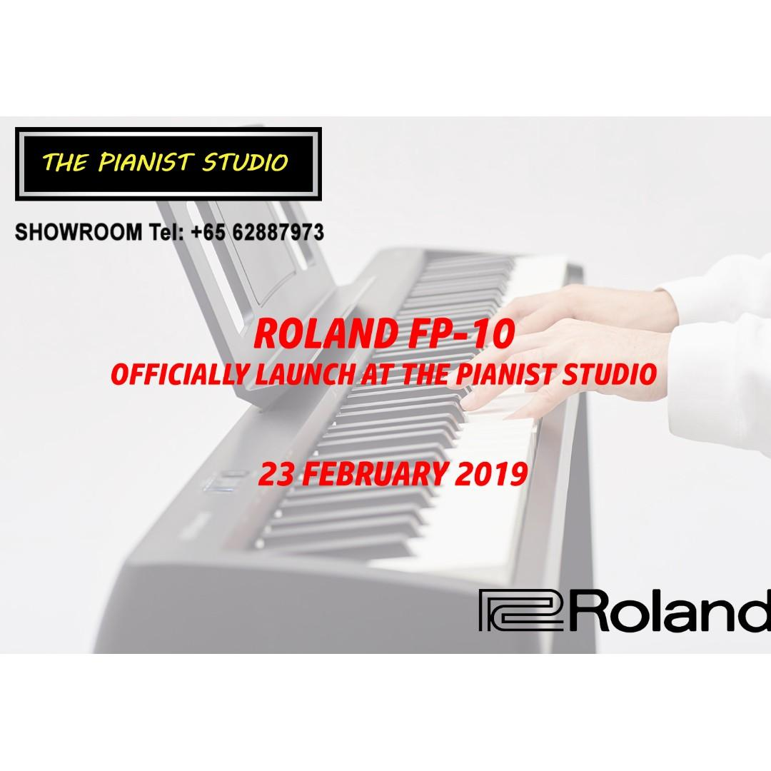 roland music sale heartland mall kovan roland fp10 digital piano keyboard at the pianist. Black Bedroom Furniture Sets. Home Design Ideas