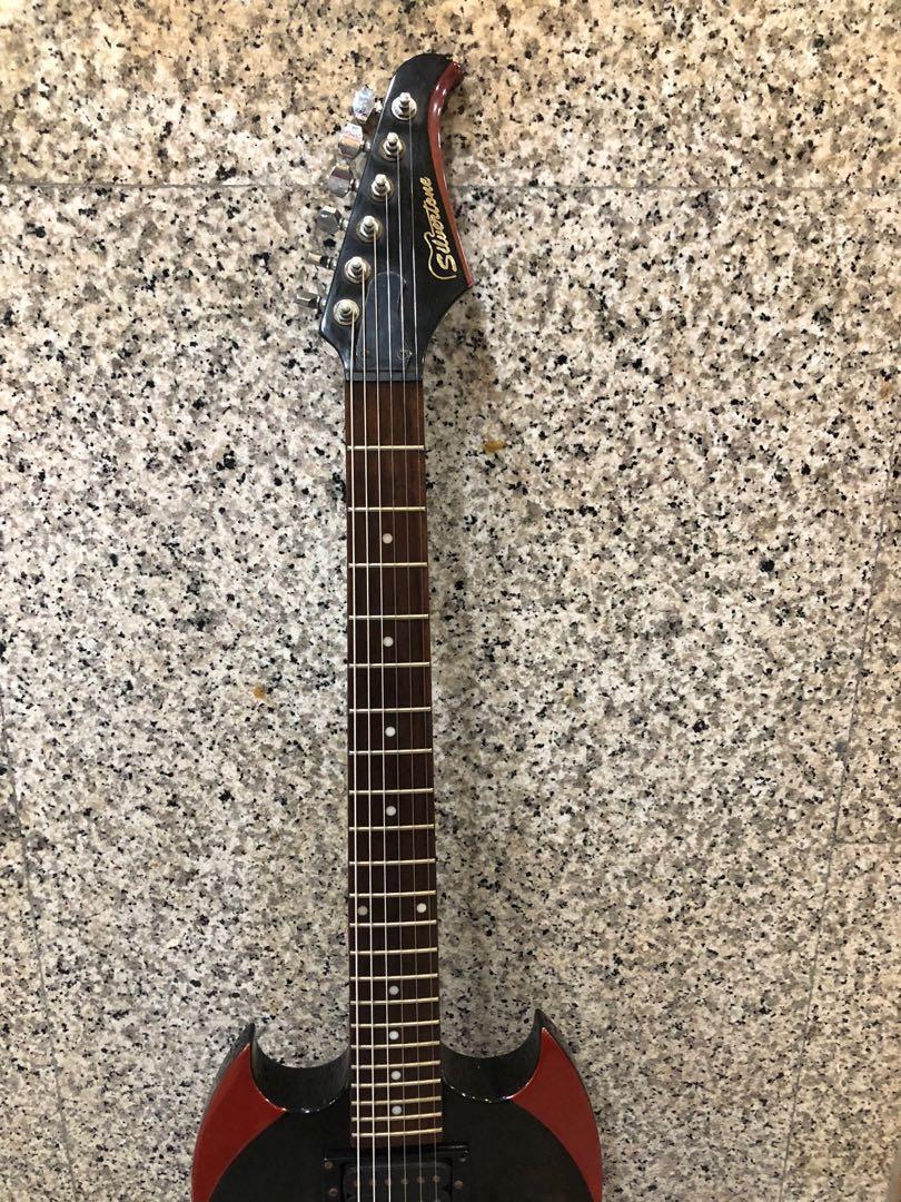 SILVERTONE PS-AP2 Paul Stanley Black Electric Guitar