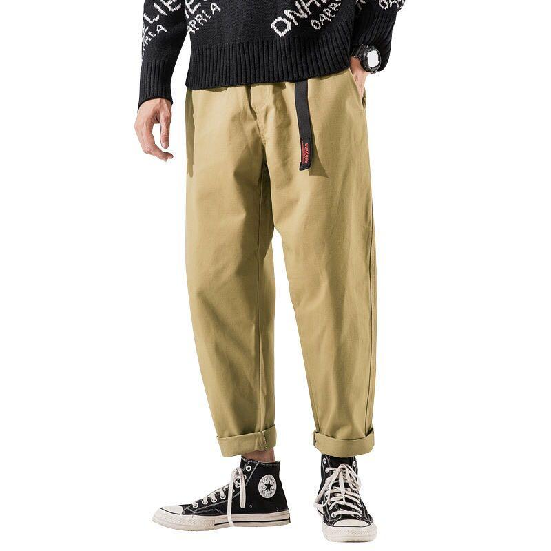 🇯🇵🇰🇷日韓系Streetwear百搭工裝褲束腳褲