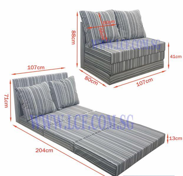 Super single sofa bed (fabric )
