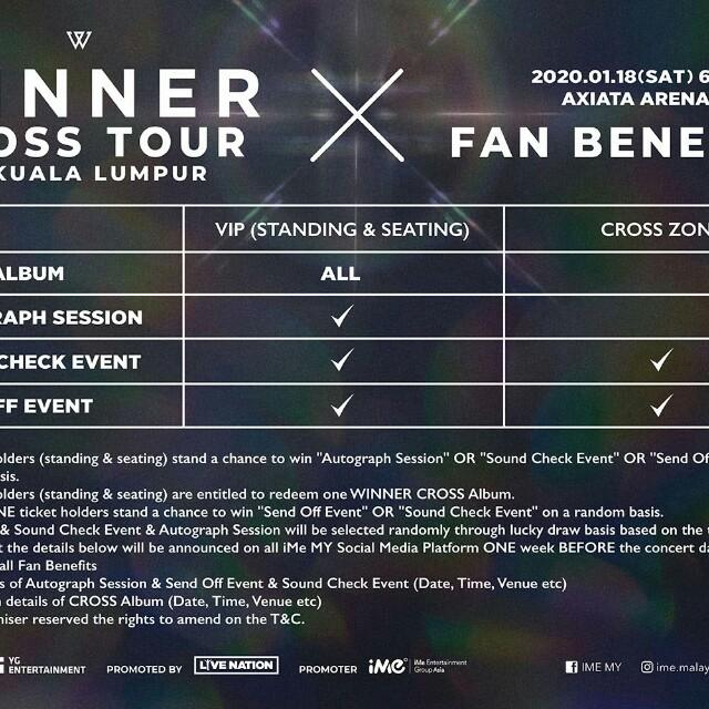 Ticketing service for WINNER CROSS TOUR in Malaysia