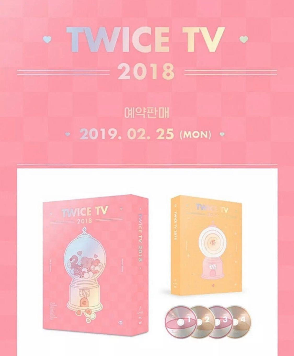 ✨TWICE✨ TV 2018 DVD ALBUM -Brand New Unsealed 4 DISCS DVD + OUTBOX